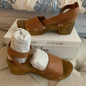 Lulu's Wooden Sandals NWT